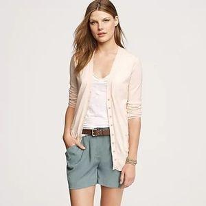 J. Crew XL pink Forever cardigan light cotton